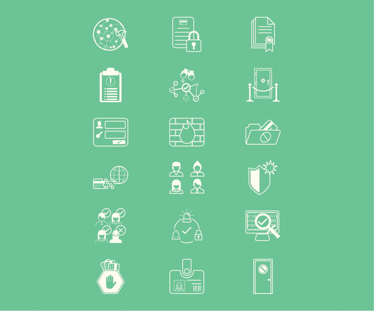 Icon set for infographic