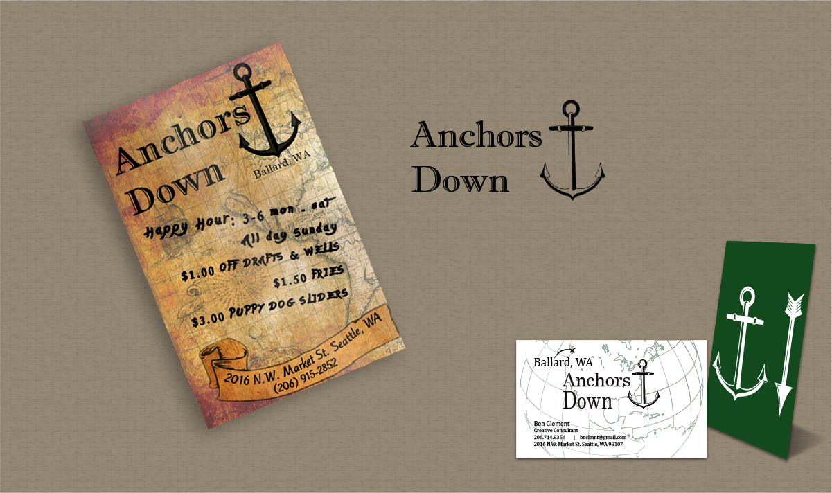 Anchors Down Branding